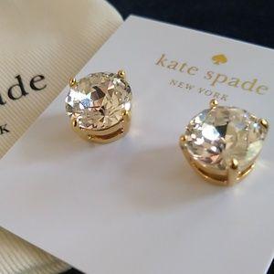 Kate Spade Multifaceted Gumdrop Gold Studs